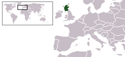 Location of Scotland