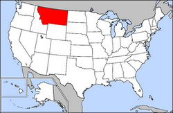 Location of Montana