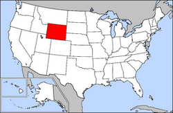 Location of Wyoming