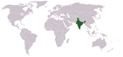 Location of India