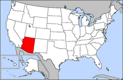 Location of Arizona