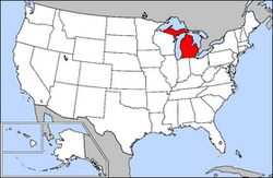 Location of Michigan