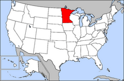 Location of Minnesota