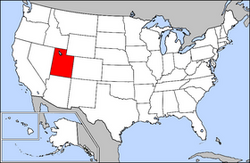 Location of Utah
