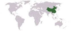 Location of People's Republic of China